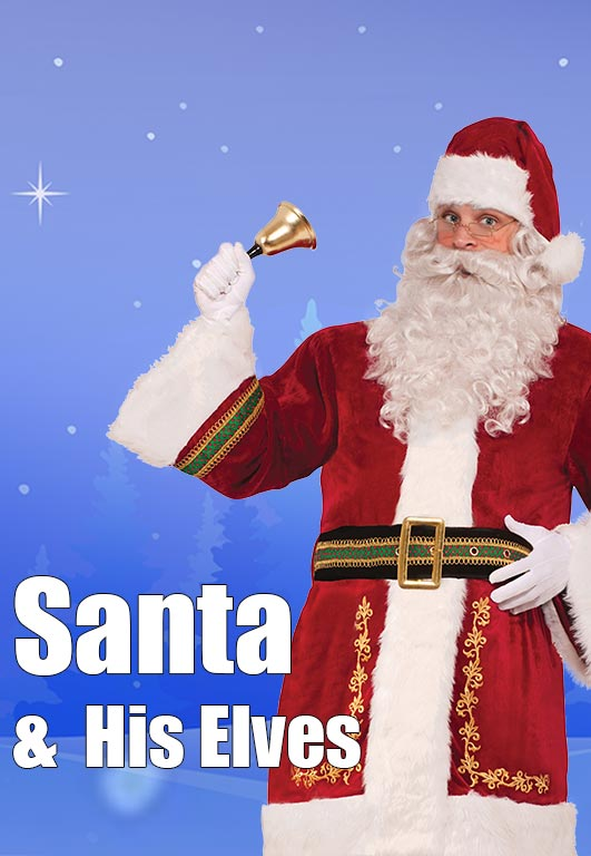 Great selection of Costumes and Accessories for Santa and his Elves