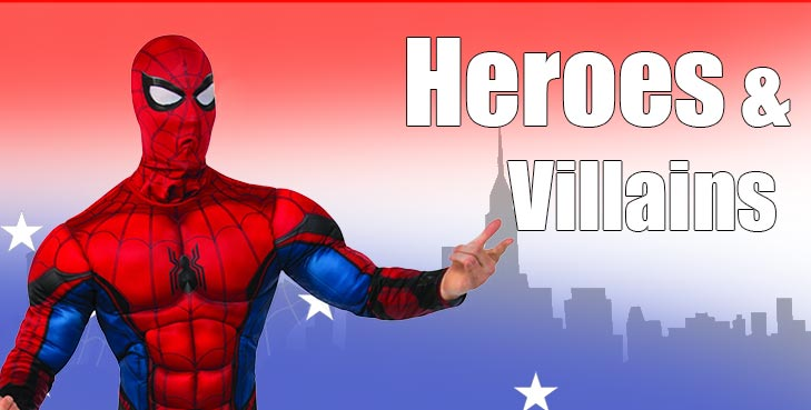 Become the Hero of your own story! Check out our Superheroe Costumes!