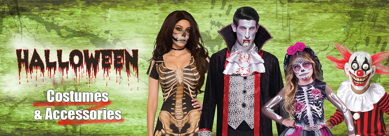 Halloween Costumes and Accessories!!! Get in Early and sort out your costume now!