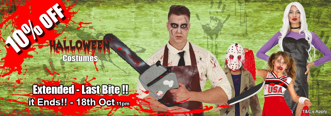 Halloween Early-Bird Special - 10 Percent Off Hallowen Costumes untill the 18th of October