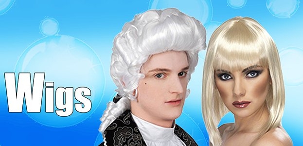 Fancy Dress Wigs - Browse over 300 different styles