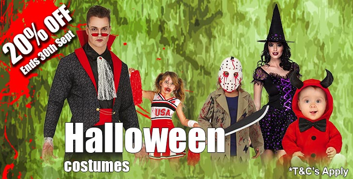 Kit out your Halloween costume with the must have accessories including Contact Lenses, Horns, Wings, Wigs, Weapons Hats, Gloves Jewellery, Masks and Makeup.