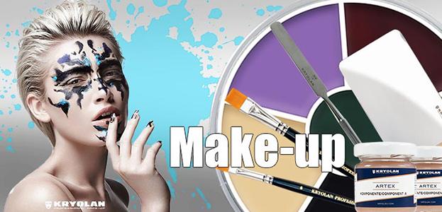 Professional Make-Up - UV - Blood - Eyelashes - Glitter - Jewels - Hairsprays