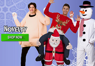 We Have a Great Range of Xmas Carry Me Costumes, Silly Hats, Christmas Trees & Reindeers